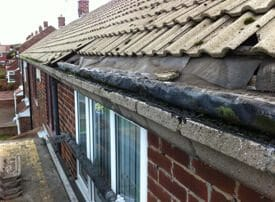 damaged finlock guttering
