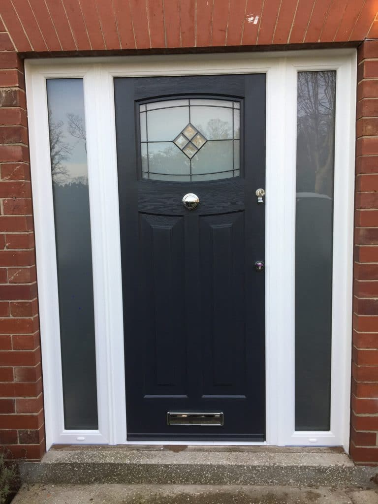 anthracite grey door with side panels walker newcastle