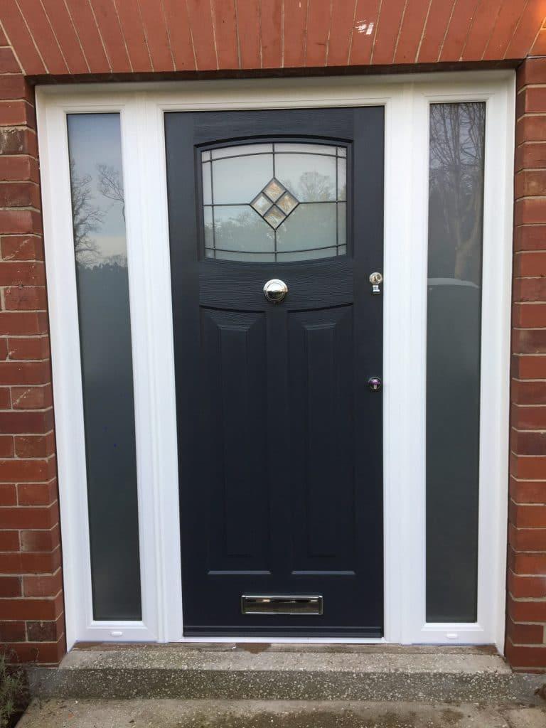 anthracite grey door with side panels walker newcastle