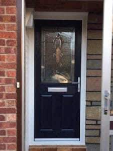 black windsor door installation washington tyne and wear