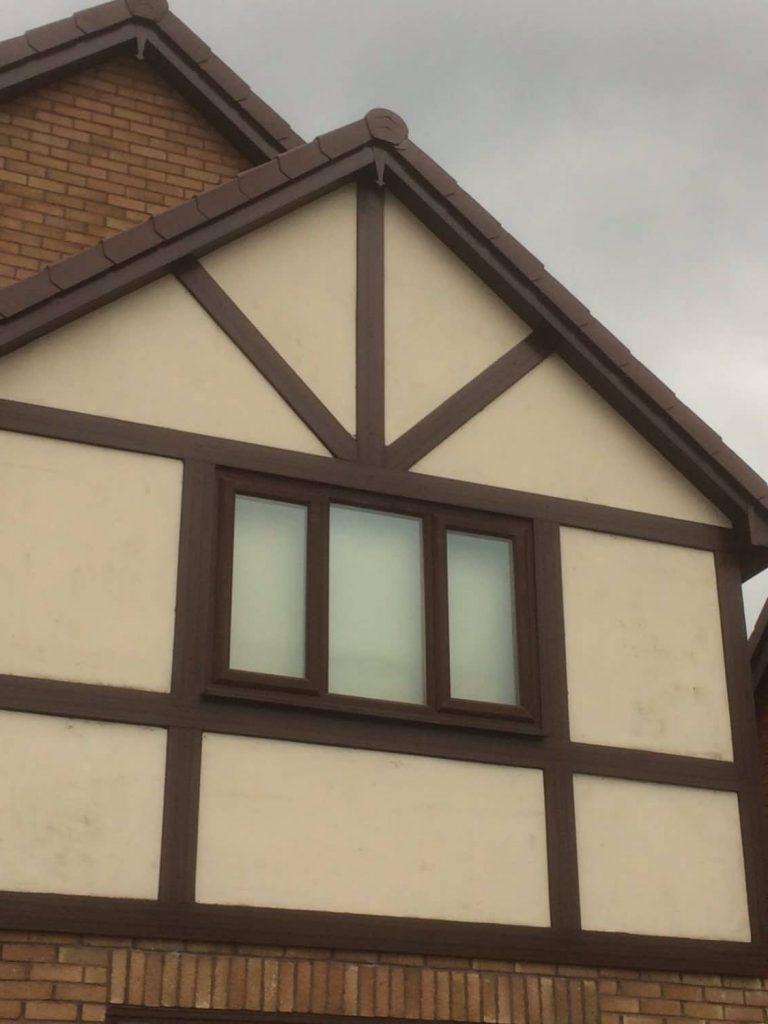 ashington installation upvc roofline replacment system and upvc tudor boards
