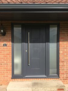 dakota rockdoor in slate grey - seahouses north northumberland