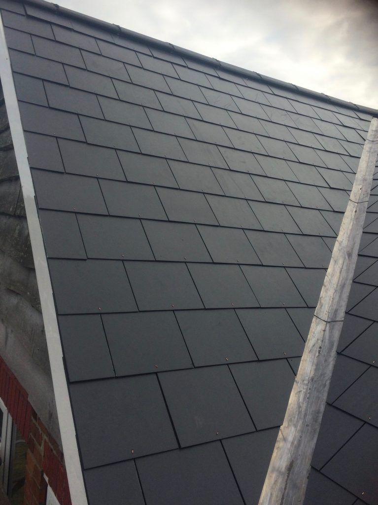 Anthracite Grey Slate Roof Installtion in Whitley Bay Northumberland